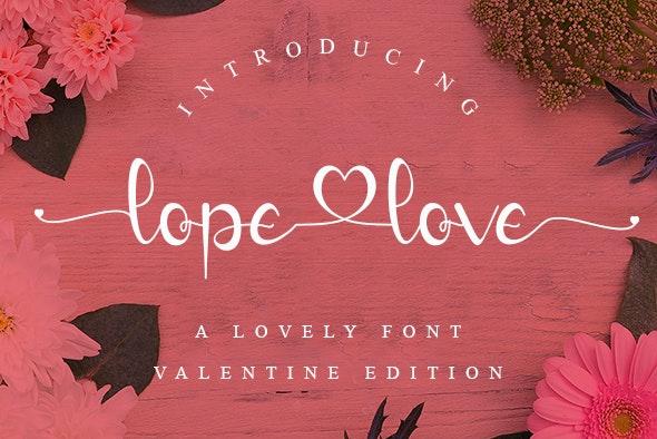 Lope love - Hand-writing Script