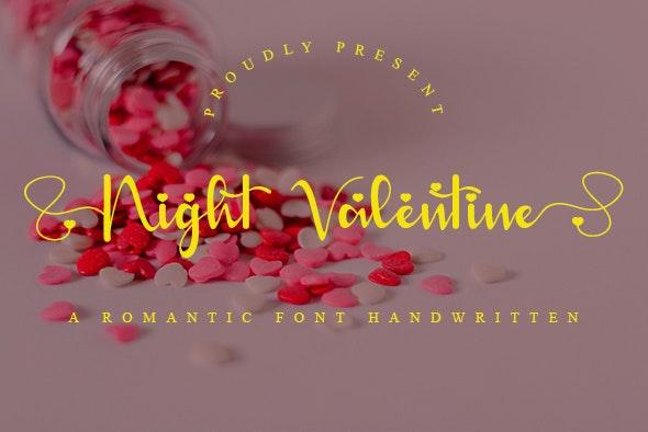 Night Valentine - Hand-writing Script
