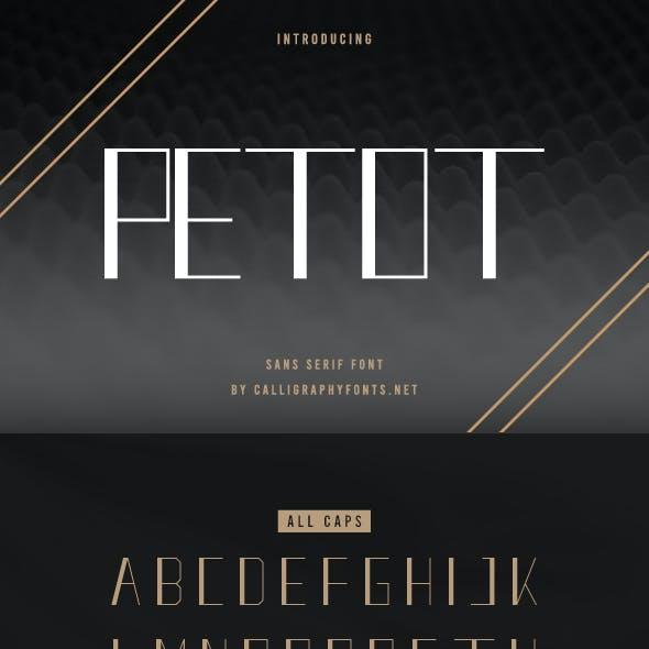 Petot Sans Serif Font