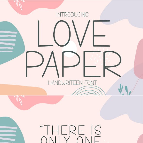 Love Paper - Cute Handwritten Display