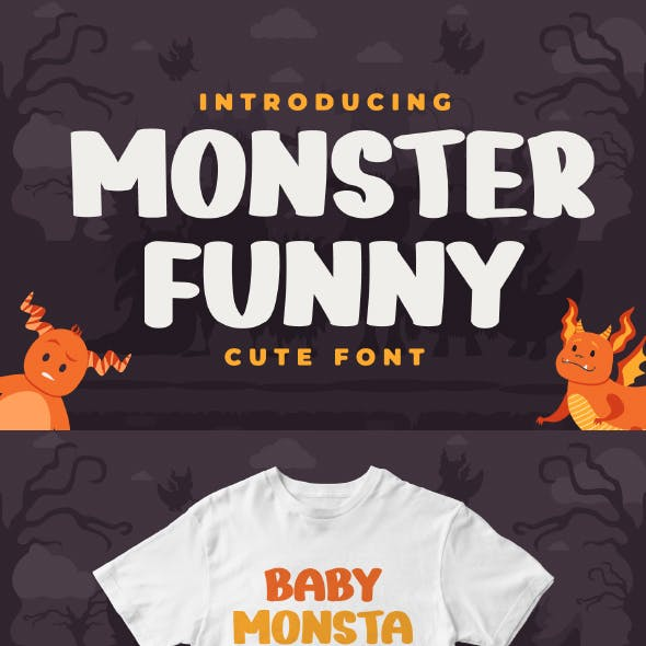 Monster Funny - Cute Display Font
