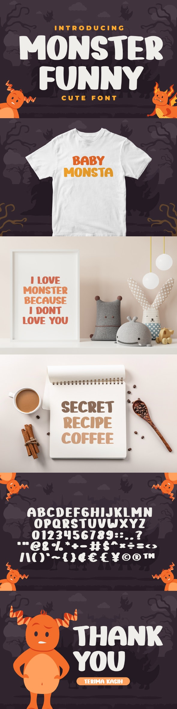Monster Funny - Cute Display Font - Comic Decorative