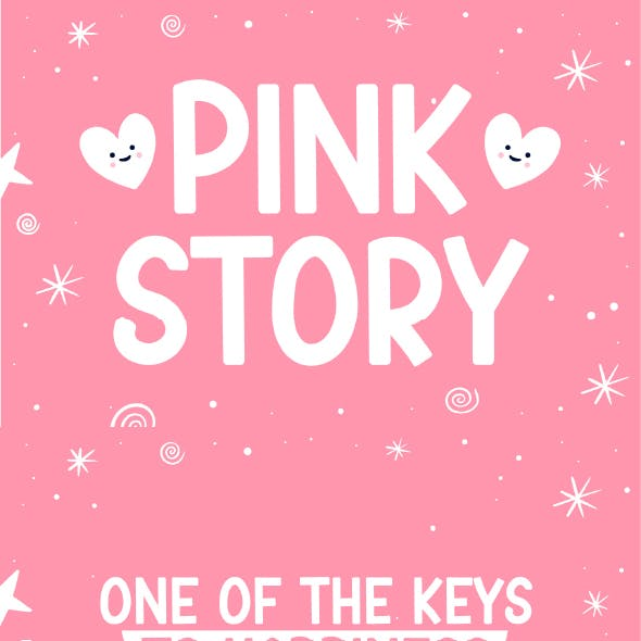 Pink Story - Cute Display Font
