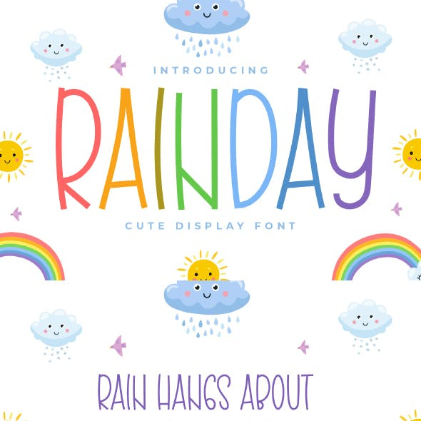 Rainday - Cute Display Font