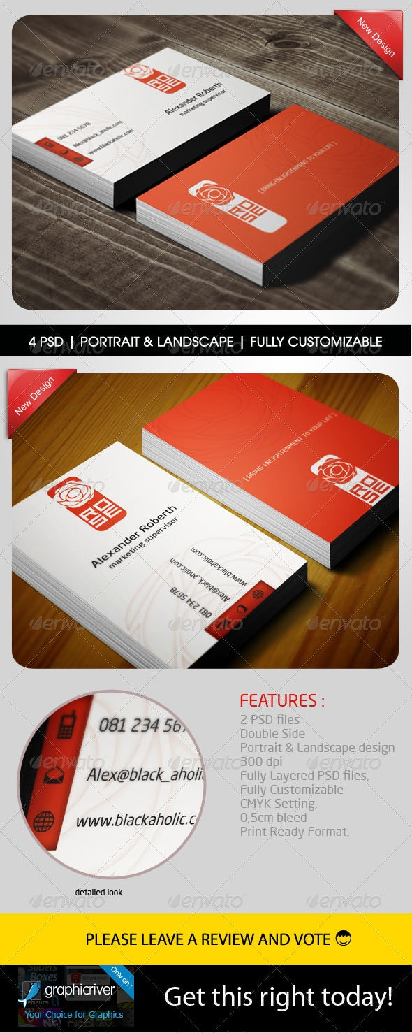 Rose Bussines card - Creative Business Cards