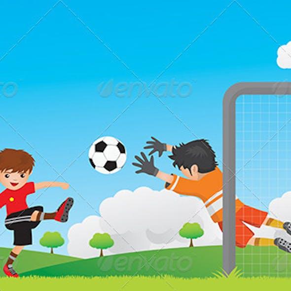 Kids Play Football