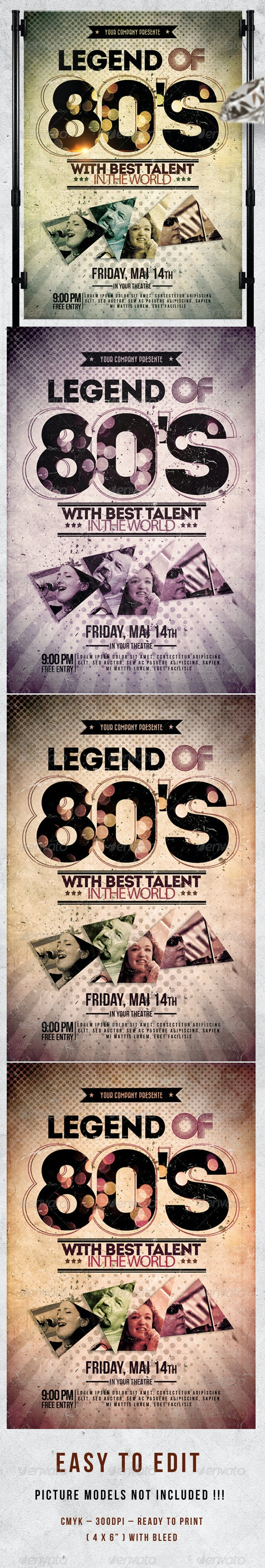 Legend Of 80'S  Flyer Template - Events Flyers