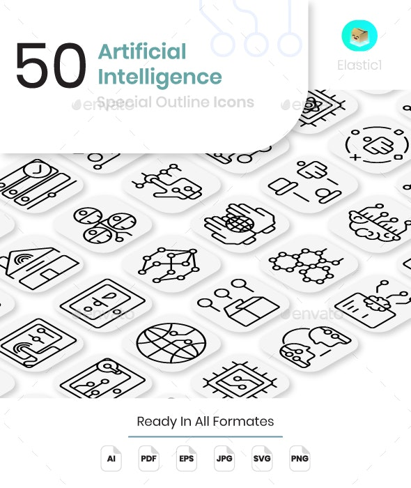 Artificial Intelligence Icons - Technology Icons