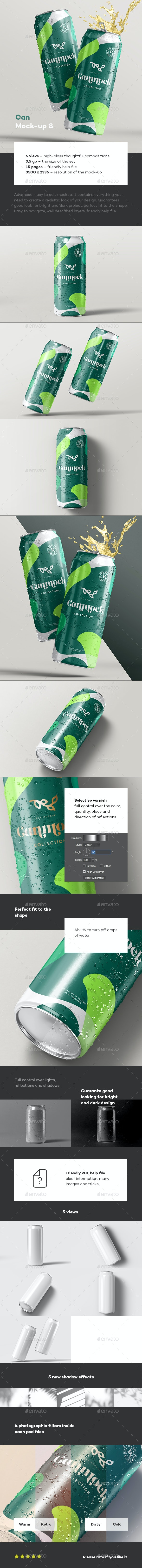 Can Mock-up 8 - Food and Drink Packaging
