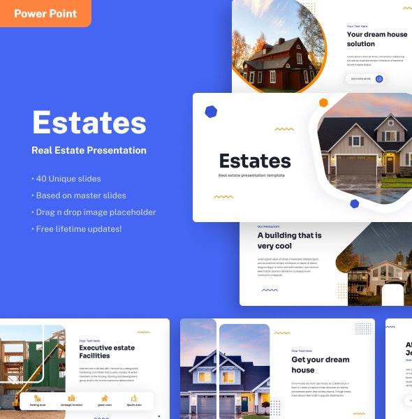Estates - Real Estate Power Point Presentation - Business PowerPoint Templates