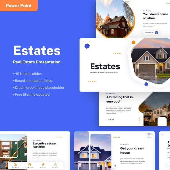 Estates - Real Estate Power Point Presentation