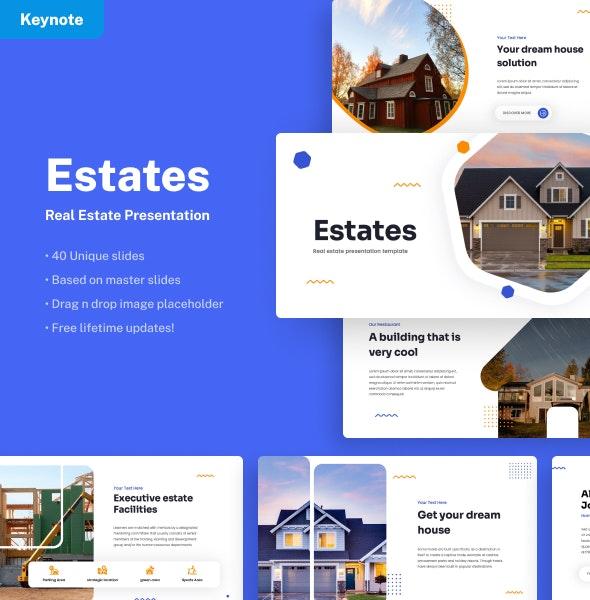 Estates - Real Estate Keynote Presentation - Business Keynote Templates