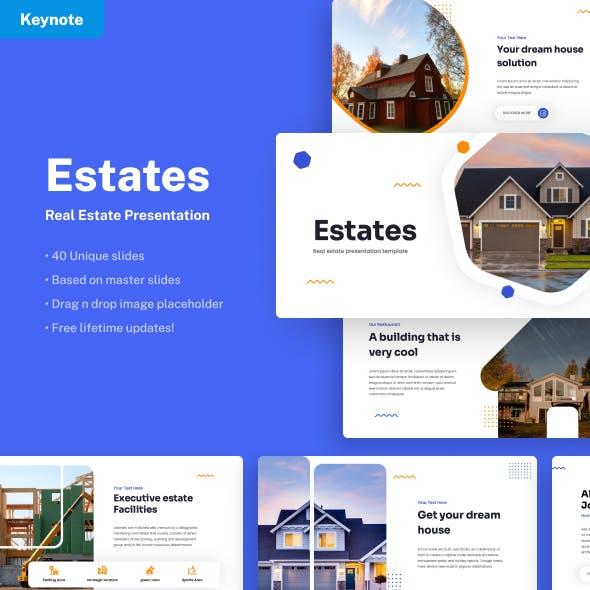 Estates - Real Estate Keynote Presentation