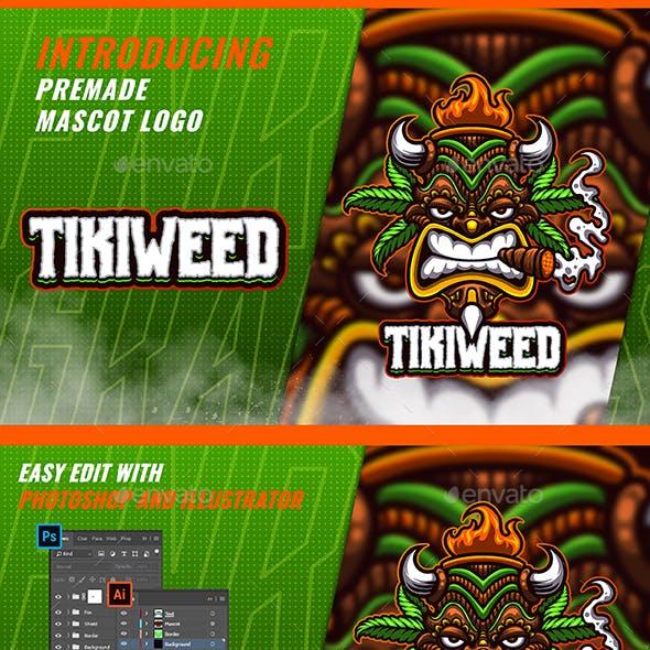 Tiki Cannabis - Mascot & Esport Logo 2