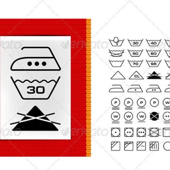 Washing Symbols On Clothing Labels