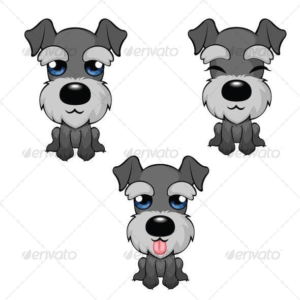 Cartoon Miniature Schnauzer