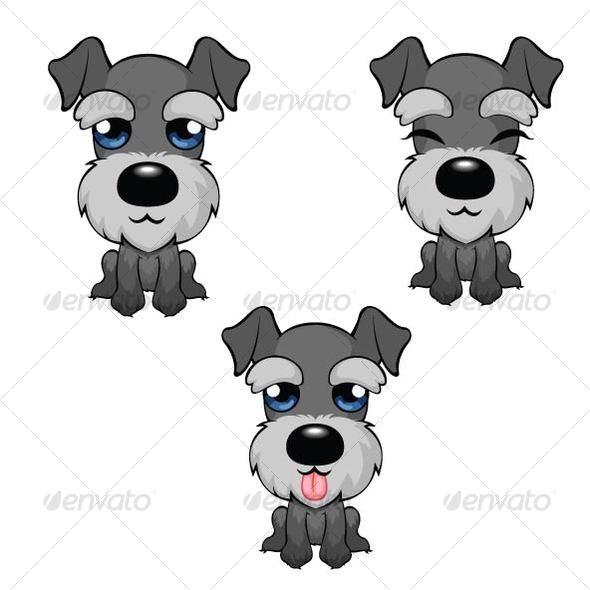 Cartoon Miniature Schnauzer - Animals Characters