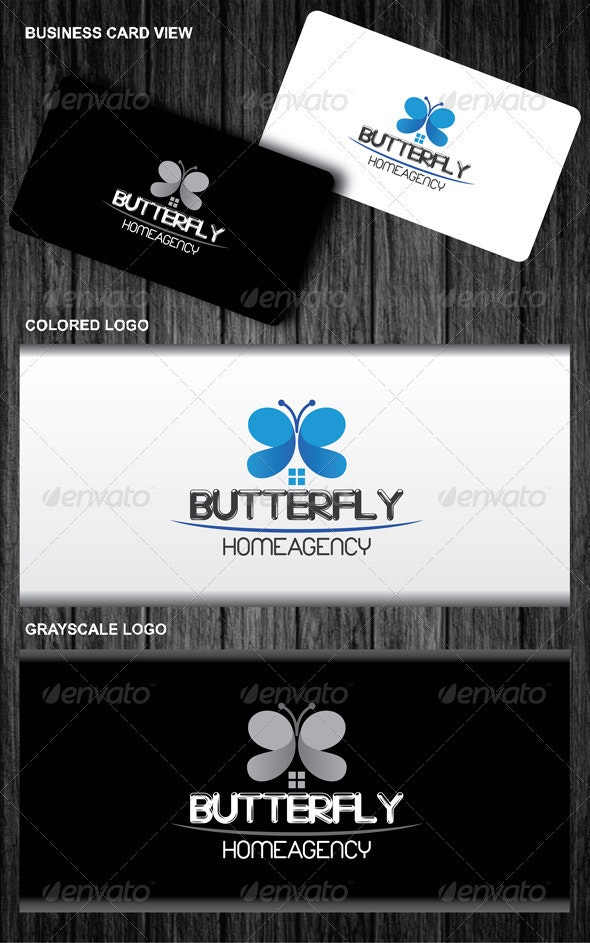 Butterfly Home Agency Logo - Symbols Logo Templates