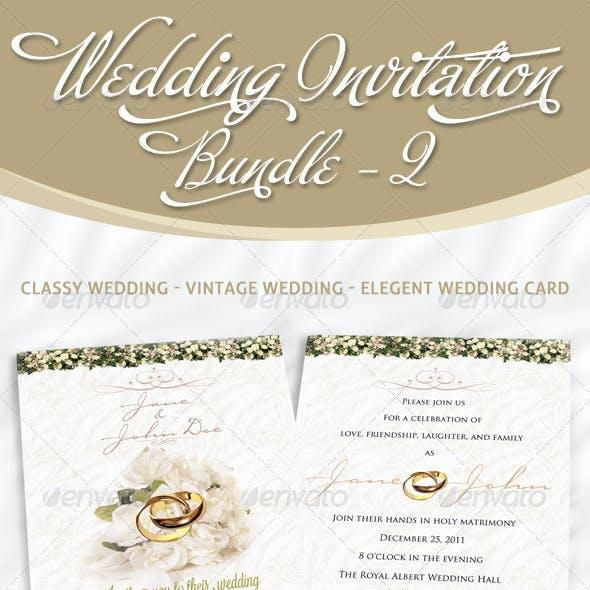 Wedding Invitation Bundle - Pack 2