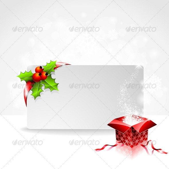 Vector holiday illustration on a Christmas theme. - Christmas Seasons/Holidays