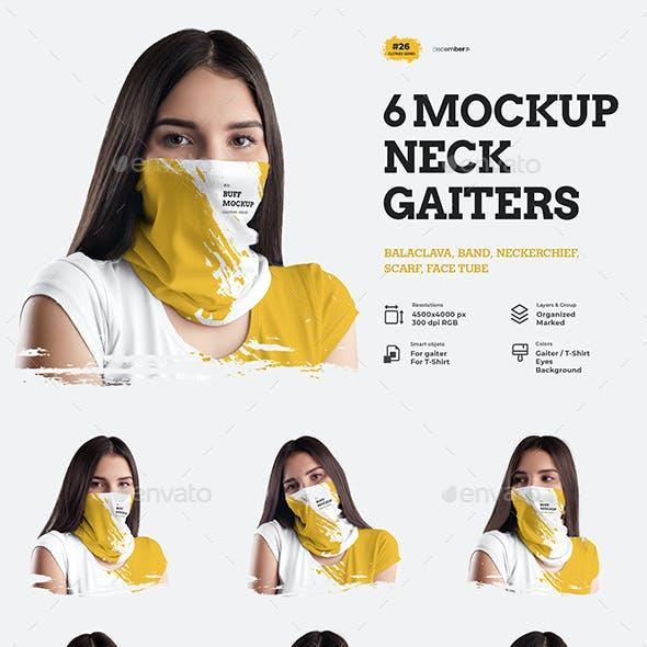 6 Mockups Neck Gaiters