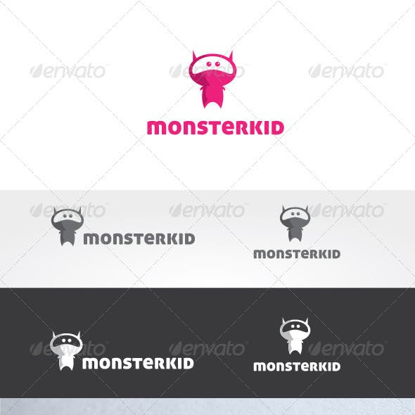 Monster Kid Logo Template