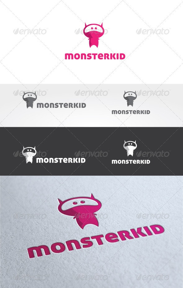 Monster Kid Logo Template - Humans Logo Templates