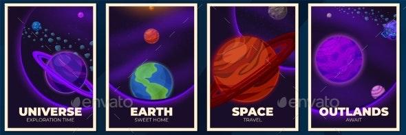 Planets Banners - Miscellaneous Vectors