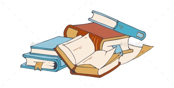 Book Store Elements - Miscellaneous Vectors