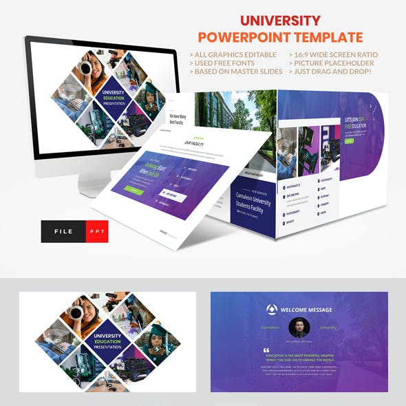 University - Education College Power Point Template