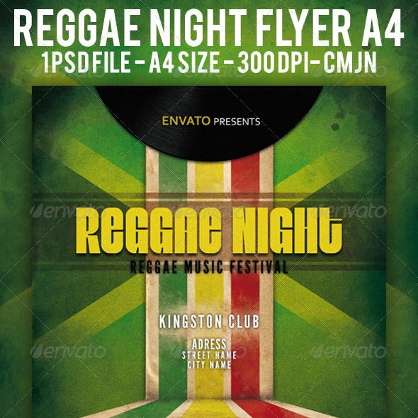 Reggae Night Flyer A4