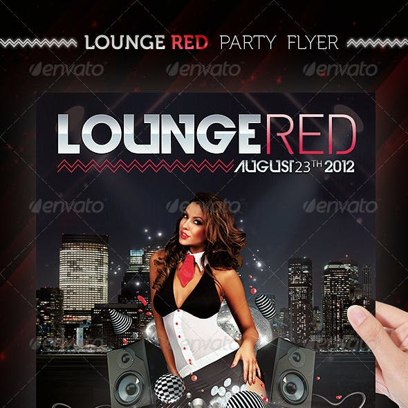 Lounge Red Party Flyer Template