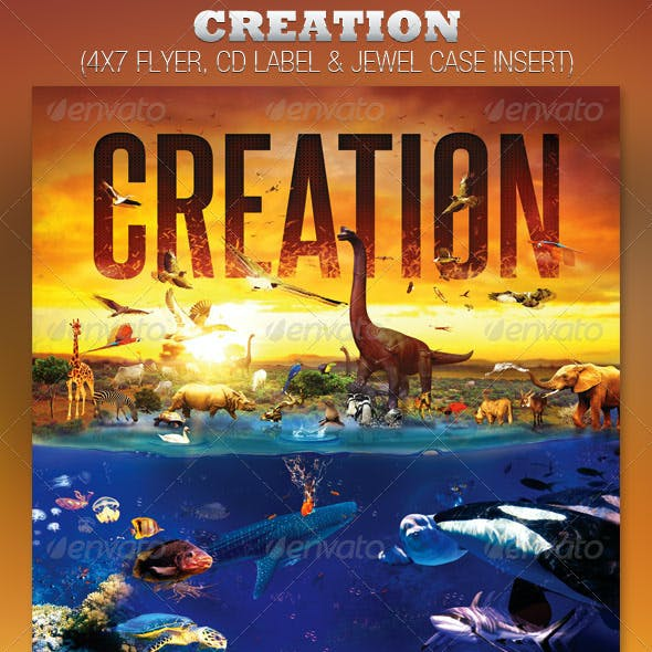 Creation Church Flyer and CD Template