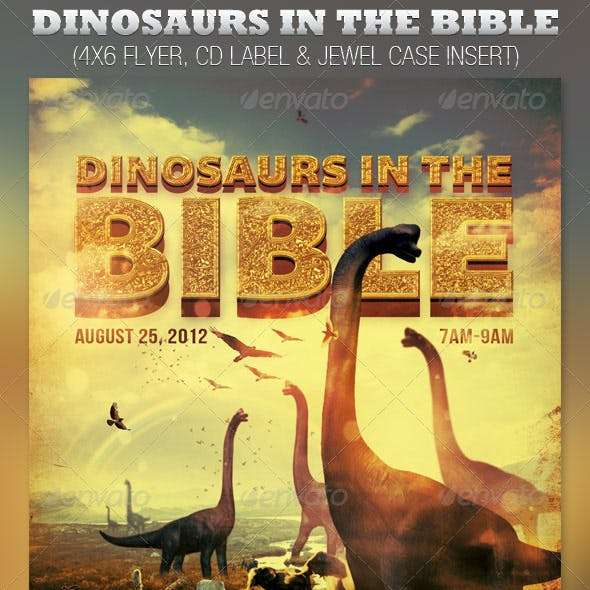 Dinosaurs in the Bible Church Flyer and CD