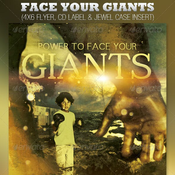 Face Your Giants Church Flyer and CD Template