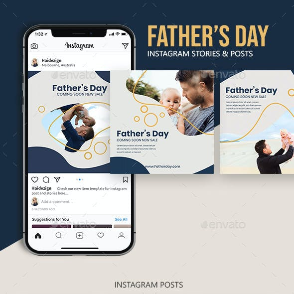 Father's Day - Instagram Templates Set