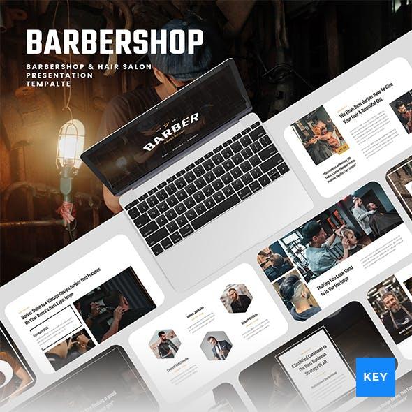 Barbershop & Hair Salon Keynote Presentation Template
