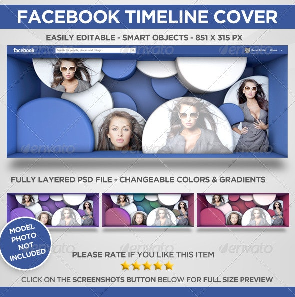 Facebook Timeline Cover 3D Circles - Facebook Timeline Covers Social Media