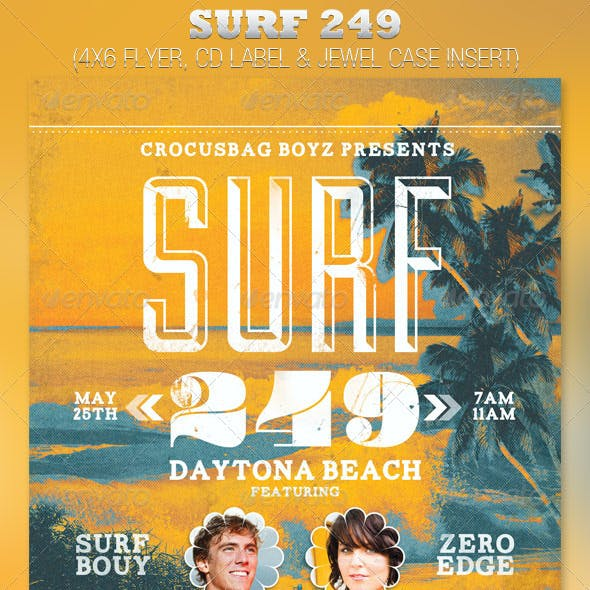 Surf 249 Flyer and CD Template