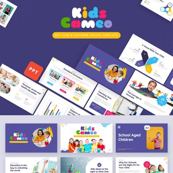 Kids Cameo - Day Care & Children School Powerpoint Template