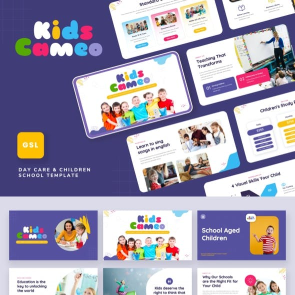 Kids Cameo - Day Care & Children School Google Slides Template