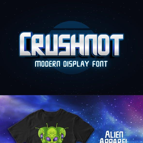 Crushnot - Modern Display Font
