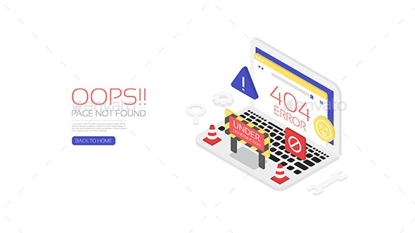 Isometric 404 Error - Web Technology