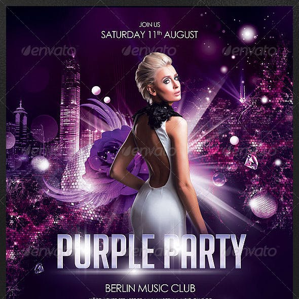 Purple Party Poster/Flyer