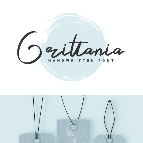 Grittania - Handwritten Font