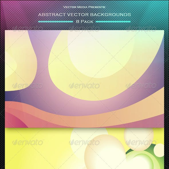 Abstract Vector Backgrounds - 8 Pack