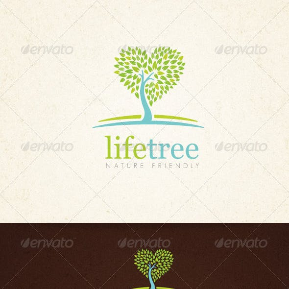Life Tree Organic Creative Logo Template