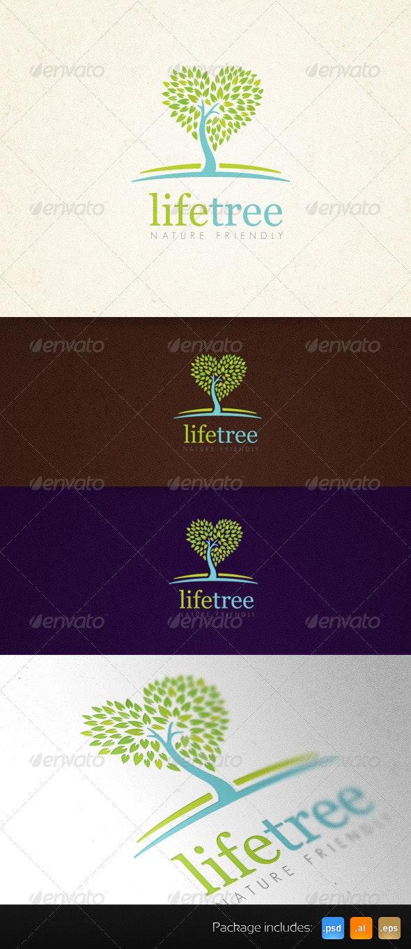 Life Tree Organic Creative Logo Template - Nature Logo Templates