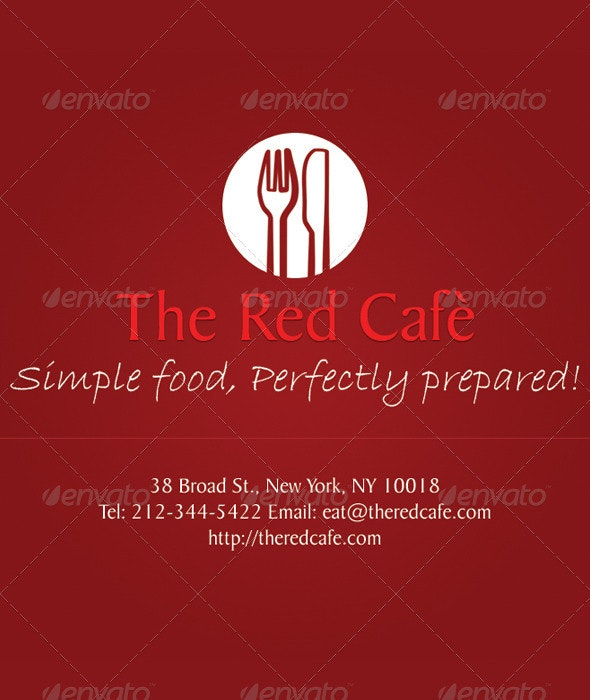 The Red Cafe - Industry Specific Business Cards