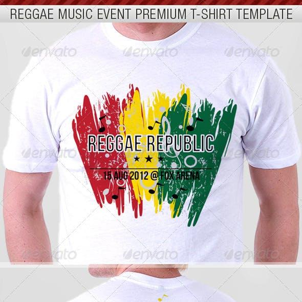Reggae Music Show Premium T-Shirt Template